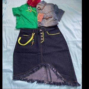 One of a kind Denim Skirt